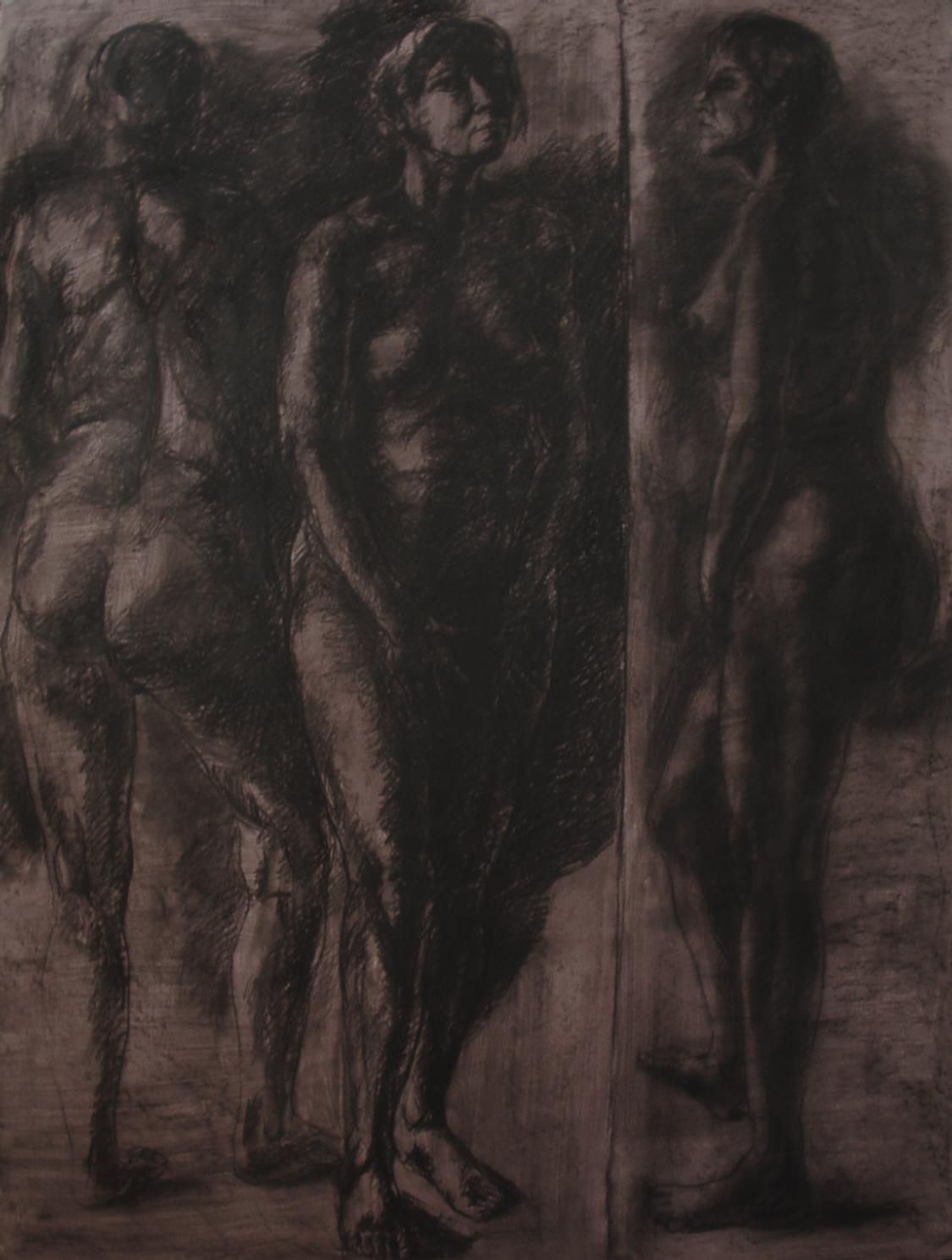 nudité-femmes-groupe-dessin-nu-modèle-vivant