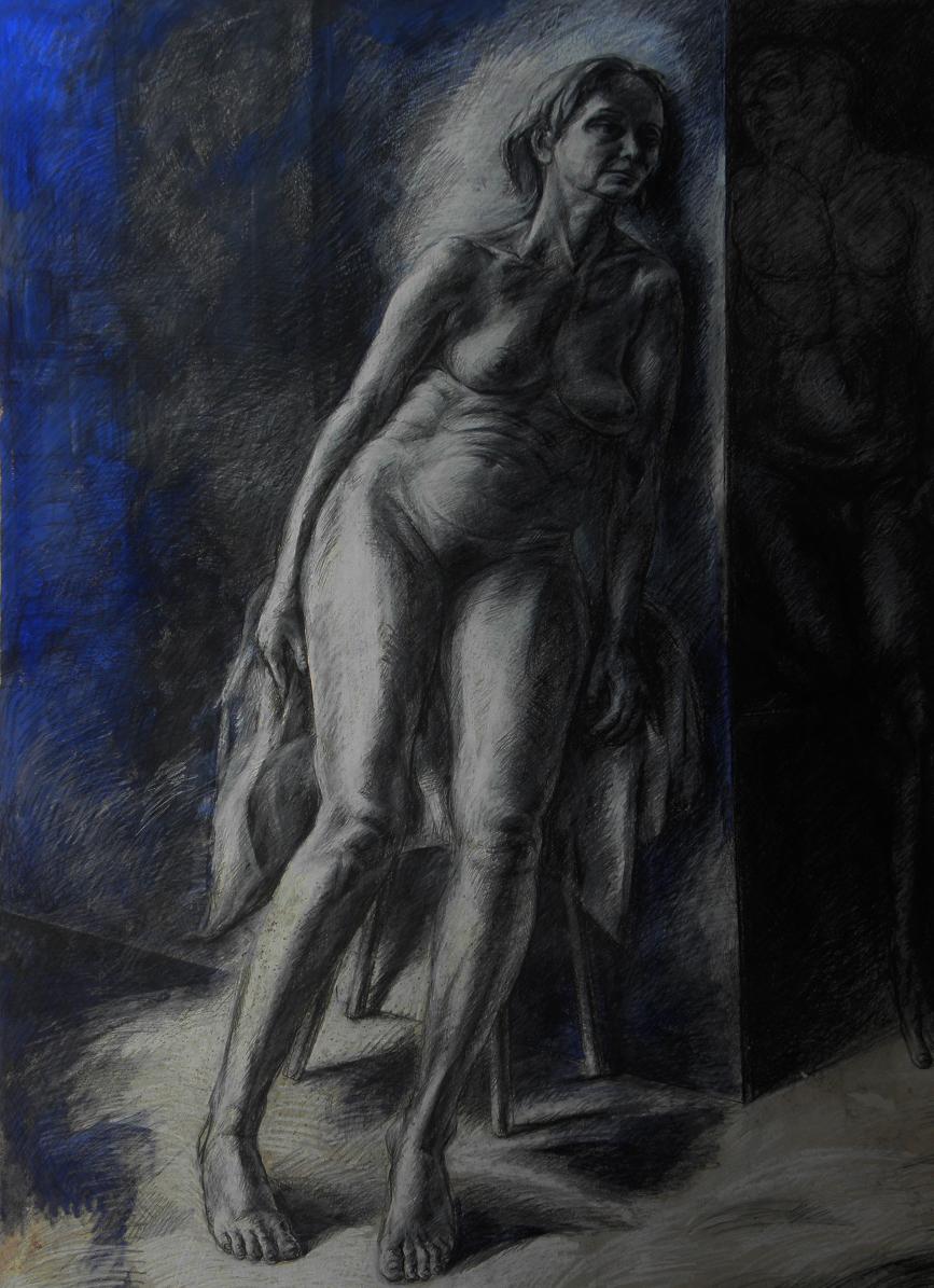 nu-femme-assise-homme-dessin